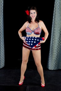 American Flag Vegas Girl